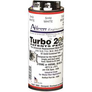 GLOBAL SOURCE TURBO 200X TURBO 200 X CAPACITOR, 70-97.5 MFD, 370 / 440 VAC
