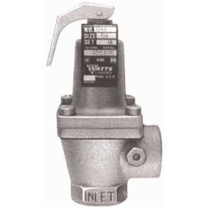 Watts 0274751 Pressure Safety Relief Valve #174A Bronze Body 125 psi