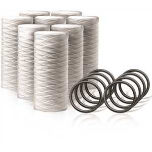 ENVIRO WATER PRODUCTS EWP-PC-80 Replacement Sediment Water Filter Cartridge Filters with O-Rings