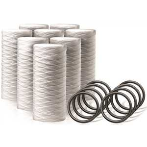 Sediment Filter Water Filter Cartridge Replacements - 8 Single Filters