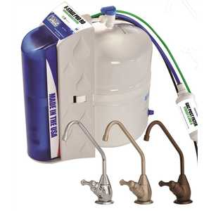ENVIRO WATER PRODUCTS EWP-PRO-RO 6-Stage Reverse Osmosis Drinking Water Filtration System with Polished Chrome Faucet