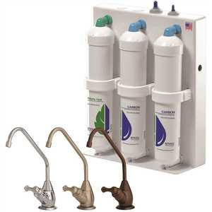 3-Stage Undercounter Drinking Water System with Polished Chrome Faucet