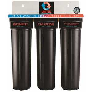 ENVIRO WATER PRODUCTS RG3MINI 3-Stage Mini Water Treatment System - Filtration with Magnetic Conditioner