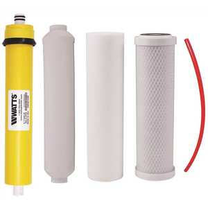 Watts PWFPK4RO4 Pure Water Master Filter Pack for Under-Sink 4-Stage Reverse Osmosis Systems