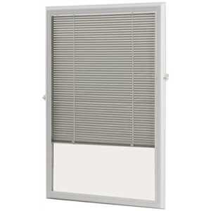 ODL ADDON2236E White Cordless Add On Enclosed Aluminum Blinds with 1/2 in. Slats, for 22 in. Wide x 36 in. Length Door Windows