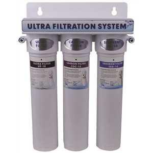 Aqua Flo 20010201 Under Sink 475 QC Series Triple Stage Ultra Filter System 1 Sediment 1 Carbon 1 Ultrafilter