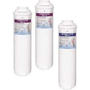 Aqua Flo 41407012 Sediment Carbon Annual Reverse Osmosis Replacement Water Filter Cartridges Kit for 475 1-Sediment 2-Carbon