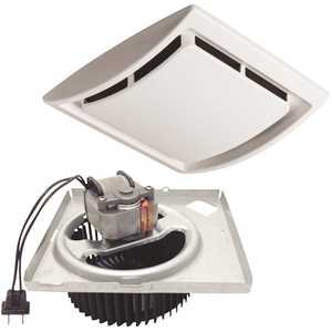 Broan-NuTone QK60S 60 CFM Quick Install Bathroom Exhaust Fan Motor and Grille Upgrade Kit