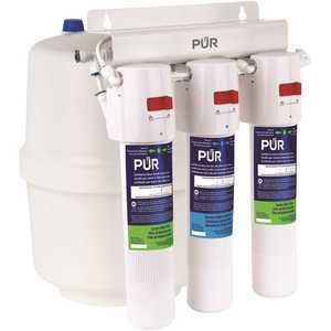 PUR PQC3RO 3-Stage Quick Connect 20.3 GPD Reverse Osmosis Water Filtration System with Faucet