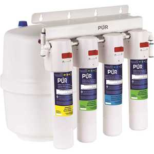 PUR PQC4RO 4-Stage Quick Connect 20.3 GPD Reverse Osmosis Water Filtration System with Faucet