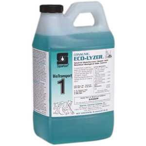 Spartan Chemical 459702 BioTransport 1 Consume Eco-Lyzer 2 Liter Floral Scent Disinfectant/Deodorant