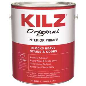 KILZ 10901 Original 1 Gal. White Oil-Based Interior Primer, Sealer, and Stain Blocker