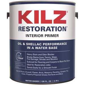 KILZ RESTORATION L200201-XCP2 1 Gal. White Interior Primer, Sealer, and Stain Blocker - pack of 2