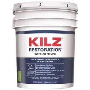 KILZ RESTORATION L200205 5 Gal. White Interior Primer, Sealer, and Stain Blocker