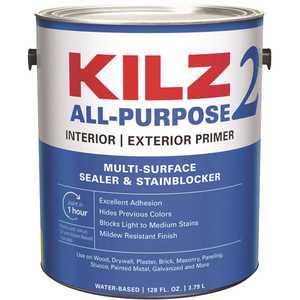 KILZ 2 20941 ALL PURPOSE 1 Gal. White Interior/Exterior Multi-Surface Primer, Sealer, and Stain Blocker
