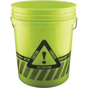 Leaktite 05GXCA01020 5 gal. Reflective Caution Bucket