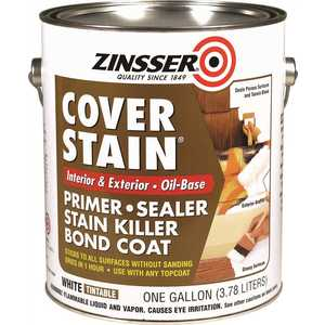 Rust-Oleum 03551 1-gal. White Flat Cover Stain Primer