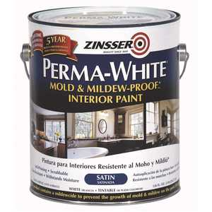 Zinsser 02711 1 gal. Perma-White Mold and Mildew-Proof Satin Interior Paint