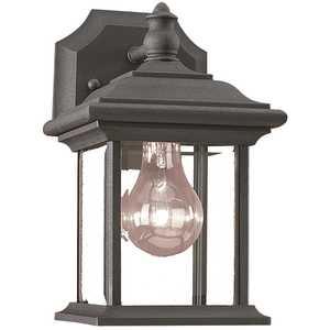 Sea Gull Lighting 85200-12 Wynfield 1-Light Black Outdoor Wall Lantern Sconce