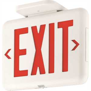 Dual-Lite EVEURWEI EVE Series 2-Watt White/Red Integrated LED Exit Sign with Battery and Self-Diagnostics