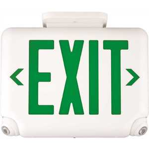 Dual-Lite EVCURWD4 2.4-Watt Equivalent Integrated LED White with Red Letters Combination Emergency/Exit Sign with Remote Capacity