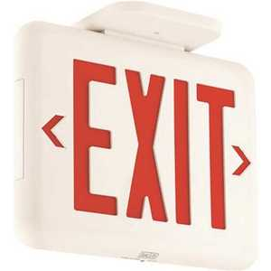 Hubbell Lighting EVEURW Dual-Lite 1.4-Watt White and Red Integrated LED AC-Only Exit Sign