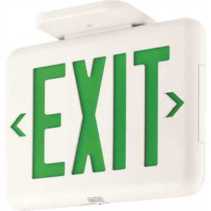 Dual-Lite EVEUGWEI EVE Series 2-Watt White/Green Integrated LED Exit Sign with Battery and Self-Diagnostics