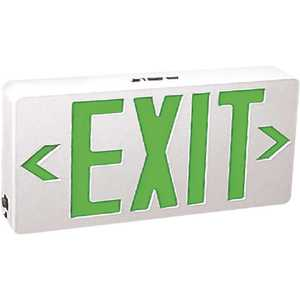 TCP 22745 6-Watt WH Housing Integrated LED Green Exit Sign with Universal AC Only