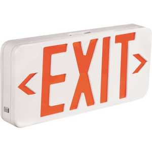 TCP 22742 6-Watt White Housing Integrated LED Red Exit Sign with Universal AC Only
