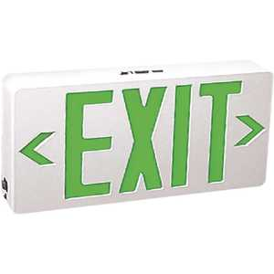 TCP 22744 120-Volt White Housing Integrated LED Green Exit Sign
