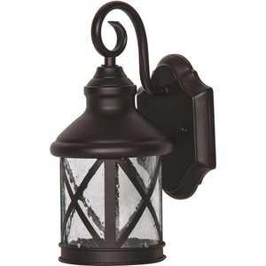 Luminance F9957-31 9-Watt Black Outdoor Integrated LED Wall Mount Sconce