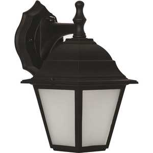 Luminance F9951-31 9-Watt Black Outdoor Integrated LED Wall Mount Sconce