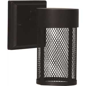 7 in. Black Integrated LED Outdoor Wall Sconce