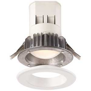 EnviroLite EV407941WH35 Easy Up 4 in. Cool White LED Recessed Light with 93 CRI, 3500K J-Box (No Can Needed)