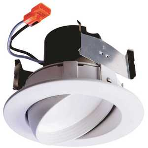 Halo RA406927WH 4 in. 2700K White Integrated LED Recessed Adjustable Gimbal Trim