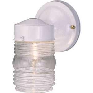 Monument 671188 1-Light White Outdoor Wall Mount Lantern