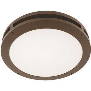 Feit Electric S13CM/850/BZ/3 13 in. 18.5-Watt Bronze Non-Dimmable Integrated LED Outdoor Security Flush Mount Ceiling Canopy Light