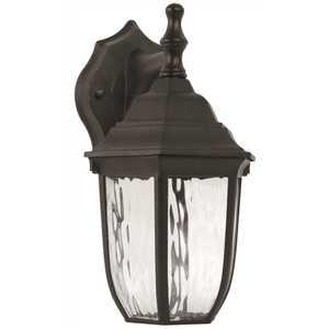 Luminance F9921-31-1-4K 6-Watt Black Integrated LED Outdoor Wall Mount Lantern Sconce