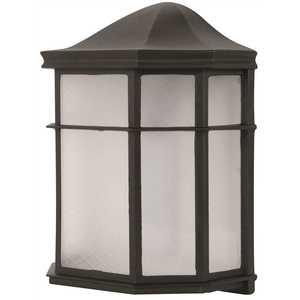 Luminance F9923-31-1-4K 9-Watt Black Integrated LED Outdoor Wall Mount Lantern