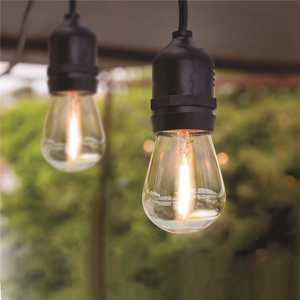 Feit Electric 72122/4 20 ft. 10-Socket String Light Set with Shatter Resistant LED Bulbs Included