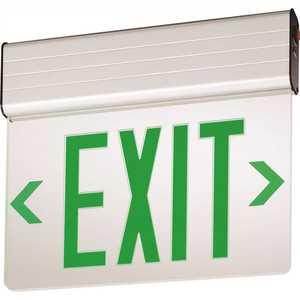 Lithonia Lighting EDG 1 G EL M6 EDG Aluminum LED Green Emergency Exit Sign