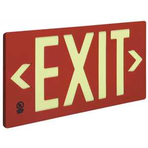 Jessup Manufacturing Company 7050-B 50 ft. Viewing Distance Single Face Red Exit Sign