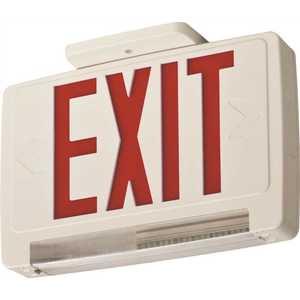 Lithonia Lighting ECBR LED M6 ECBR 3-Watt Integrated LED White Emergency Light Combo Red