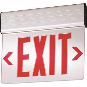 Lithonia Lighting EDG 1 R EL M6 EDG Aluminum LED Emergency Exit Sign