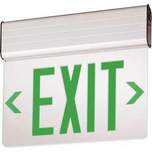 Lithonia Lighting EDG 2 GMR EL M6 EDG Aluminum LED Emergency Exit Sign