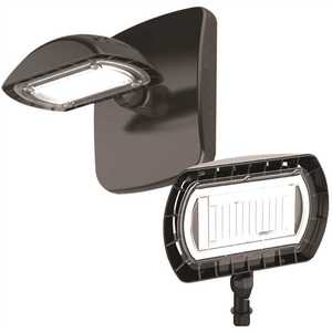 PROBRITE FSN-15-4K-BZ 100-Watt Equivalent Integrated Outdoor LED Flood Light with Wall Pack Mount, 1500 Lumens, Outdoor Security Lighting