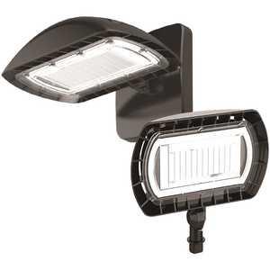 PROBRITE FSN50-PC-4K-BZ 350-Watt Equivalent Integrated Outdoor LED Flood Light with Wall Pack Mount, 5500 Lumens, Dusk to Dawn Outdoor Light