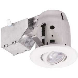 Commercial Electric 91266 3 in. New Construction or Remodel Recessed Kit with LED Bulb