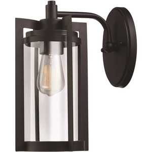 Globe Electric 44313 Theo 1-Light Bronze Outdoor Wall Lantern Sconce