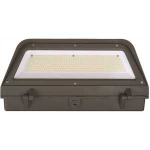 ETi 53308161 16 in. 400-Watt Equivalent Bronze Outdoor Integrated LED Security Wall Pack Light 5000K Full Cut Off 13000 Lumens